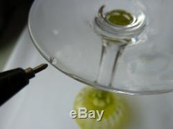 5 Wine Glasses/Rummers Val St. Lambert Harlequin Set, h18,6cm