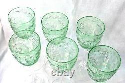 6 Available 1 Vintage 8 5/8 Tall Webb Corbett Cameo Glass Intaglio Green Wine
