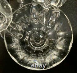 6 Baccarat Capri Optic 6 Claret Wine Glasses France Excellent