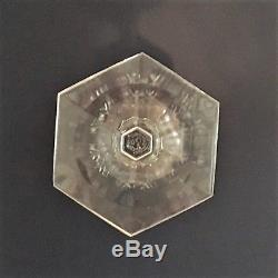 6 Baccarat Clear Crystal MALMAISON Pattern 8 Wine or Water Glass