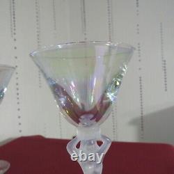 6 Glasses Wine Or Porto IN Crystal bayel Bacchus Bacchante Venus IN Colour