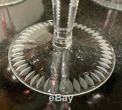 6 Hortensia Poland Cut-To-Clear Crystal 8 3/8 Ruby Red Wines Hocks Excellent