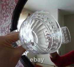 6 Large Antique Georgian Victorian Cut Crystal Glass Rummers Goblets Cap300ml