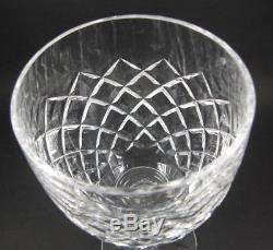 6 Large Vintage Waterford Crystal Comeragh Wine or Water Goblets Glasses