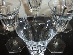 6 Moser Pope Pattern Crystal Short Wine Glasses 4 3/4 High