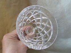 6 Stuart Crystal Victoria Cut Big Water or Wine Glasses/Goblets, Signed