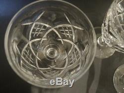 6 Vintage Stuart Crystal Diamond Cut Water or Wine glasses 1926-1950