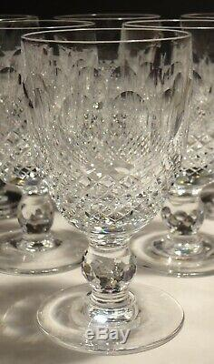 6 Vintage Waterford Crystal Colleen Claret Wine Glasses In Box