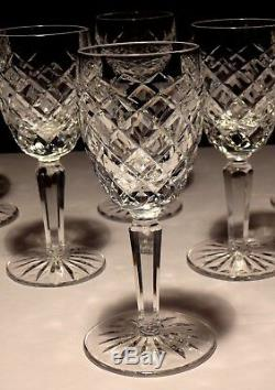 6 Vintage Waterford Crystal Comeragh Sherry Glasses 5 1/4 Ireland
