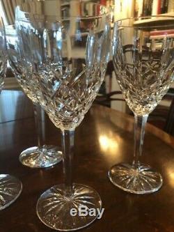 (6) Waterford Araglin Water Goblets