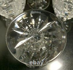 6 Waterford Crystal 5 1/4 Hibernia Claret Wine Glasses Ireland Excellent