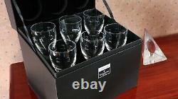 6 Waterford Crystal Geo Wine Glasses by John Rocha + Original Box 23cm tall