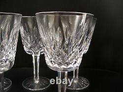 6 Waterford Crystal Lismore Water Goblets 5 7/8