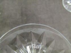 6 Waterford Lismore crystal 6 7/8ths inch water/ wine glasses 8 oz set #1