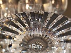 6pc Set Baccarat crystal Massena Claret Red Wine Glasses 6 1/2 Goblets Stemware