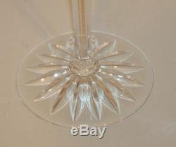 7 Ajka Hungary Albinka / Castille Cobalt Blue 8-1/4 Inch Wine Hocks Glasses