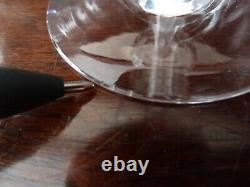 7 Antique Edwardian Cut Crystal Wine Glasses, h 12,5cm