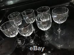 7 Baccarat Crystal White Wine Goblets Glasses Montaigne Claret 5 3/4 Optic