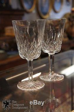 7 Pc Waterford Millennium Crystal Toasting Flutes Wine Goblets Peace Happiness