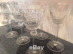 7 Saint Louis Tommy Crystal Wine/Water Goblets