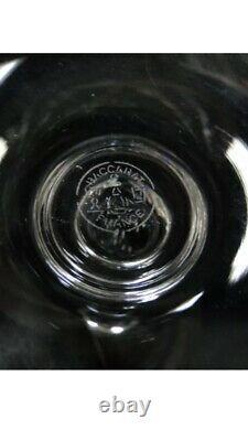 8 Baccarat Capri Optic Crystal Water/wine Glass 6 1/2 Tall 64945