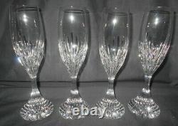8 Baccarat Massena Crystal Champagne Flutes