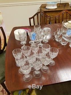 8 Mikasa Park Lane Lead Crystal Wine Glasses Goblets Stems