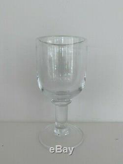 8 SIMON PEARCE Crystal ESSEX Hand Blown Studio Art Glass Water Wine Goblets