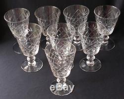 8 Vintage Tiffin #17395 Canterbury Crystal Water/ Wine Goblets 5-5/8t