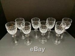 8 Waterford CURRAGHMORE WINE GOBLETS 7 Claret Red Wine Glasses Crystal Minty