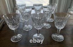 8 Waterford Crystal Lismore Claret Wine Glasses 5 7/8