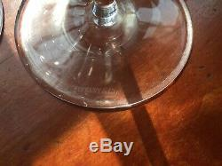 8 signed Tiffany & Co 9 crystal Wine Goblets