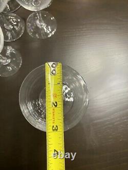 (9) Signed Baccarat Crystal France Perfection Pedestal Claret Wine Glasses