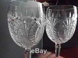 A Pair of Rare Waterford Crystal Seahorse Large Wine Glasses