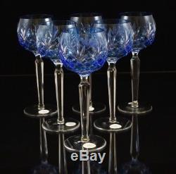 AJKA CRYSTAL WINE GLASS set of 6, 220g, AZURE LIGHT BLUE