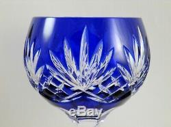 AJKA Crystal Cut to Clear Hock Wine Goblets 8 1/4 Carolyne Multi Color