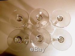 ANTIQUE Baccarat Crystal ST REMY (1878-) Set of 6 Claret Wine Glasses 7 5/8