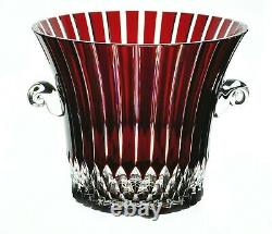 Ajka Castille Ruby Red Cut to Clear Crystal Wine Ice Bucket Cooler