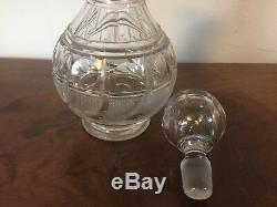 Antique 19th c. American Empire Pittsburgh Glass Wine Whiskey Crystal Decanter