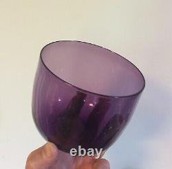 Antique Crystal Amethyst Blown Glass Wine Rinser 19th c. Finger Bowl Vase Purple
