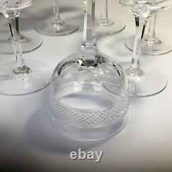Antique James Powell Whitefriars Small Wine/Port Glasses X 7 Polished Pontil