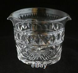 Antique Set 6 English Georgian Style Cut Crystal Wine Glass Rinser Bowls
