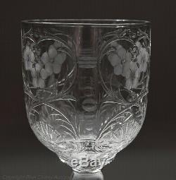Antique Stevens & Williams Rock Crystal Intaglio Cut Glass Wine Goblet