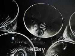 Art Deco Steuben Crystal Frederick Carder 7666 Cut 5 Wine Goblets