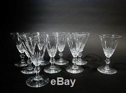 Art Deco Steuben Crystal Frederick Carder 7666 Cut 9 Claret Red Wine Goblets
