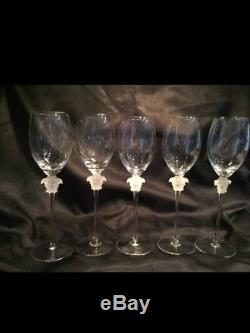 Authentic Versace Medusa crystal white wine glasses Rosenthal Versace