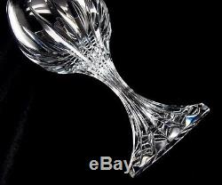 BACCARAT MASSENA Crystal 11 Claret Wine Glasses 6 1/2tall