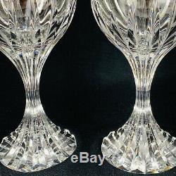 BACCARAT MASSENA Crystal Red Wine Glasses 6 7/8 Set of 2