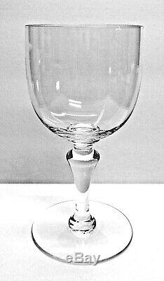 BACCARAT SET OF 10 White Wine Stems 1960's Flawless Simple & Elegant, No Pattern