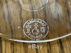 BACCARAT Vega Crystal WINE Rhine GLASSES Cobalt -2
